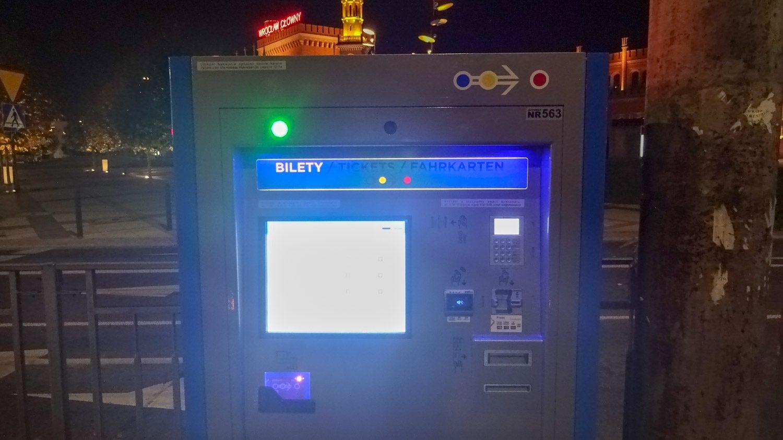 1. Автомат по продаже билетов на остановке