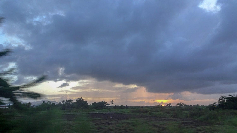 И попытка сфотографировать закат
