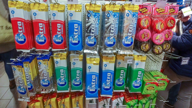 Годовой запас жевачки
