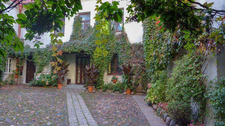 Заросшие зеленью внутренние дворы