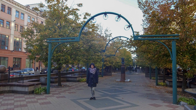 В одном из многочисленных парков Минска