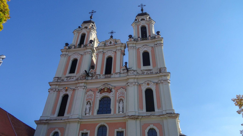 Костелы в Вильнюсе разнообразные и очень красивые