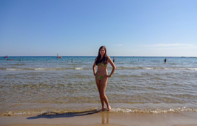 На пляже в Салоу