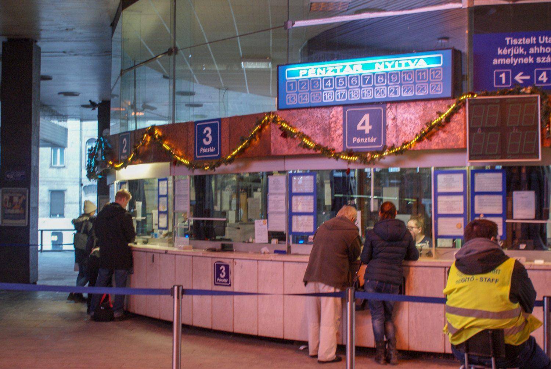 А так выглядят кассы на вокзале в Будапеште