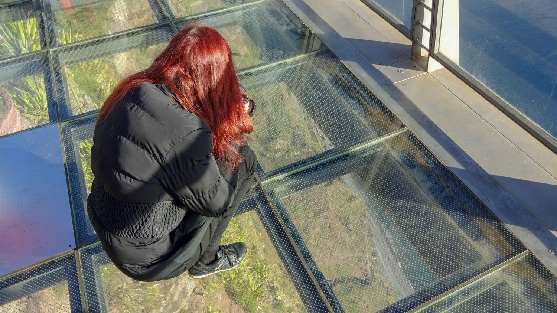 Снимаю через стеклянный пол
