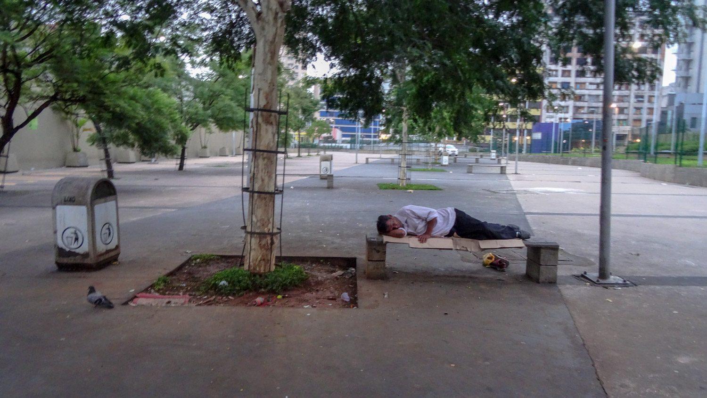 Много бездомных - тепло же