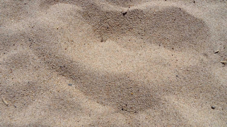 Прекрасный песочек на пляже в южной части города