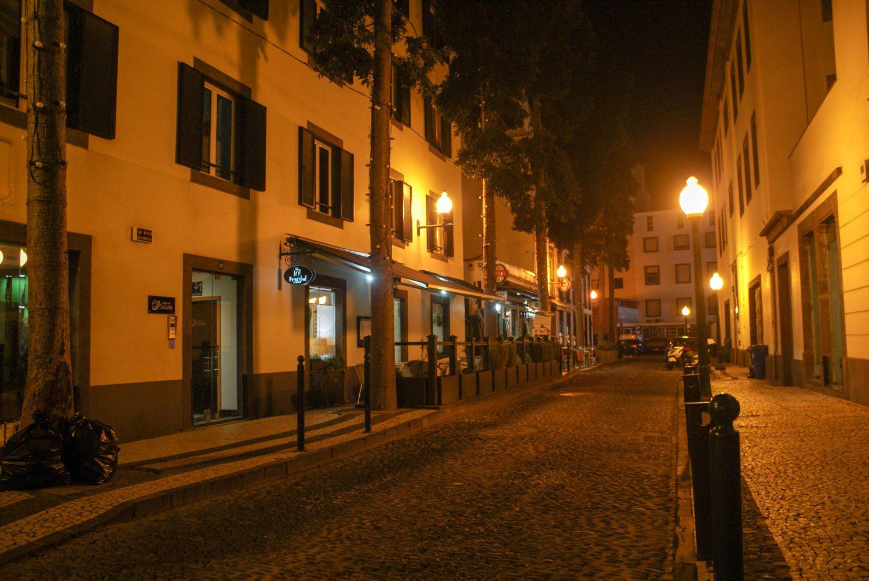 Удивительно пусто вечером на улице
