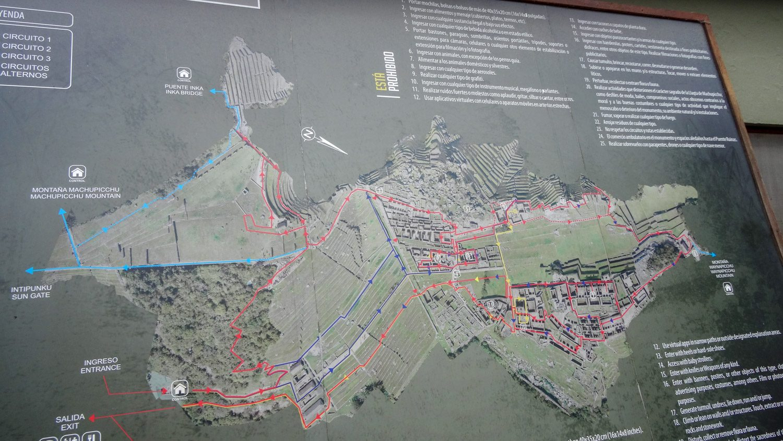 Карта древнего города инков