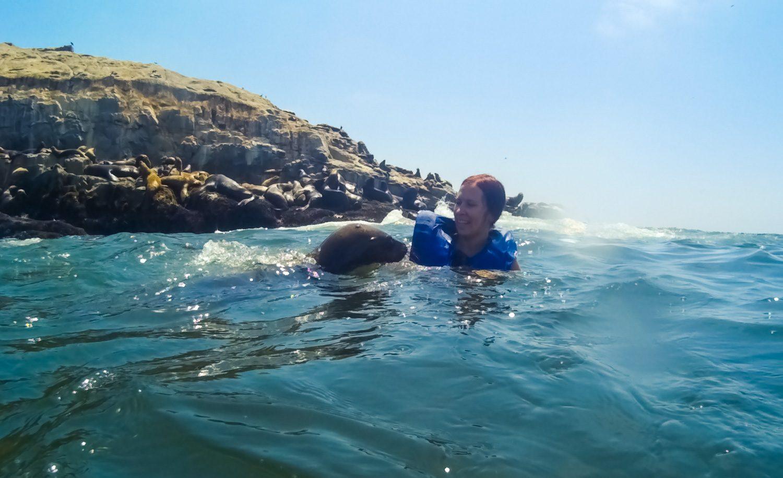 Этот морской лев даже чмокнул меня в руку. Может, обнюхал просто, но ощущение, что чмокнул