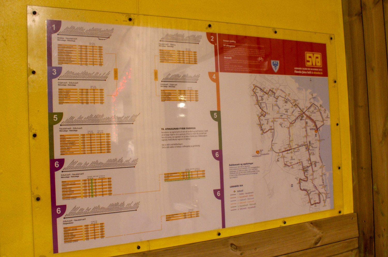 Общая схема и расписание маршрутов