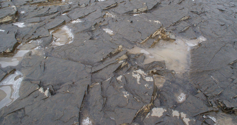 Первые льдинки... Еще немного, и водопад станет таким, каким мы его увидели впервые