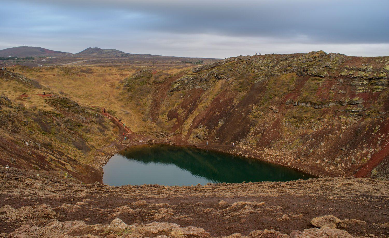 Кратерное озеро Kerið