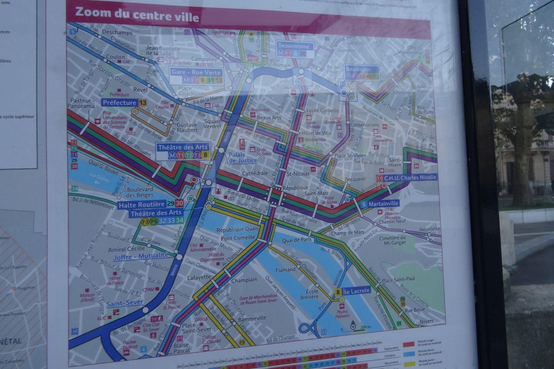 Схема транспорта в центре