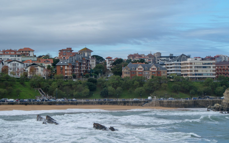 Вид на залив и город
