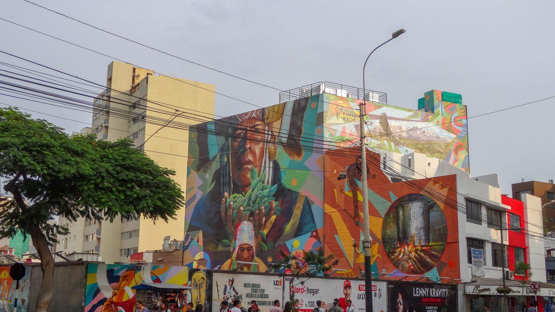 Граффити в современной части Лимы
