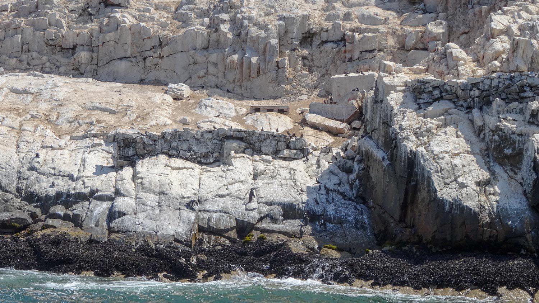 Скалы здесь тоже интересной структуры