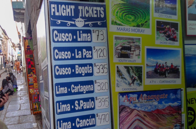 Цены на перелеты