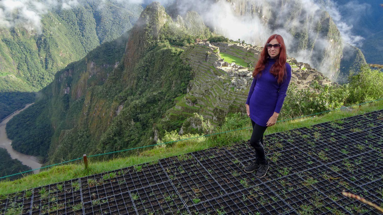 Фотографируюсь с древним городом инков