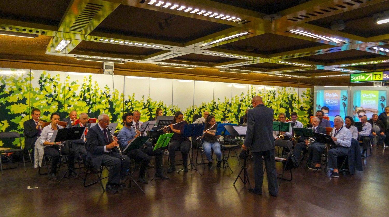 Концерт в переходе метро