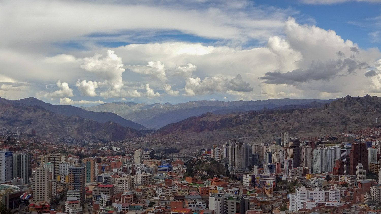 Так Ла-Пас выглядит со смотровой площадки Killi Killi