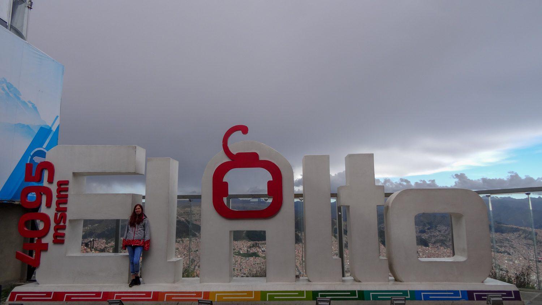 А высота Эль-Альто указана прямо на фото