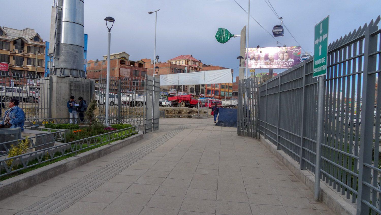 Около одной из станций в Эль-Альто