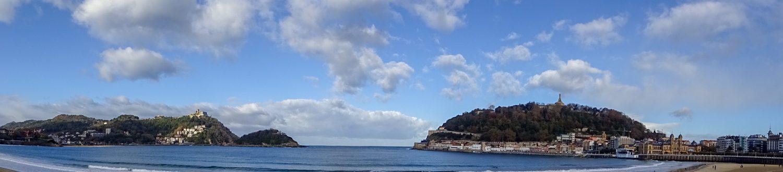 Панорама - вид с пляжа Ла Конча