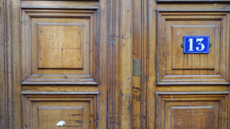 Старая дверь в трабуль