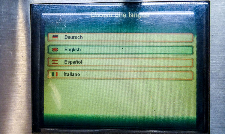 Снова выбор языка
