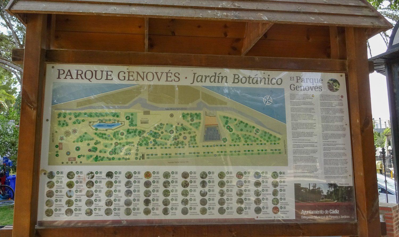 Схема парка Genovés