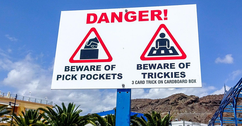 Опасайтесь карманников и мошенников