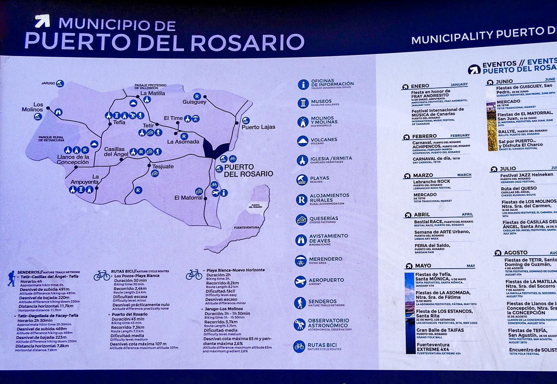 Карта автобусов из Пуэрто-дель-Росарио