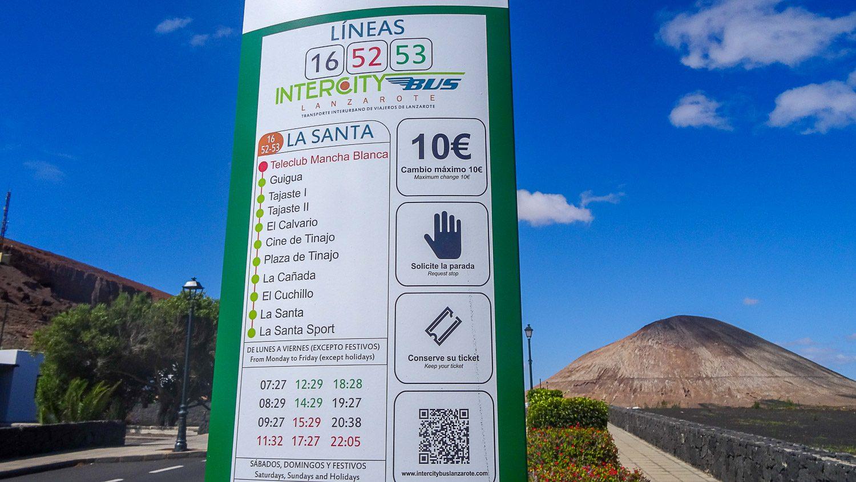 Расписание автобусов в Ла-Санту
