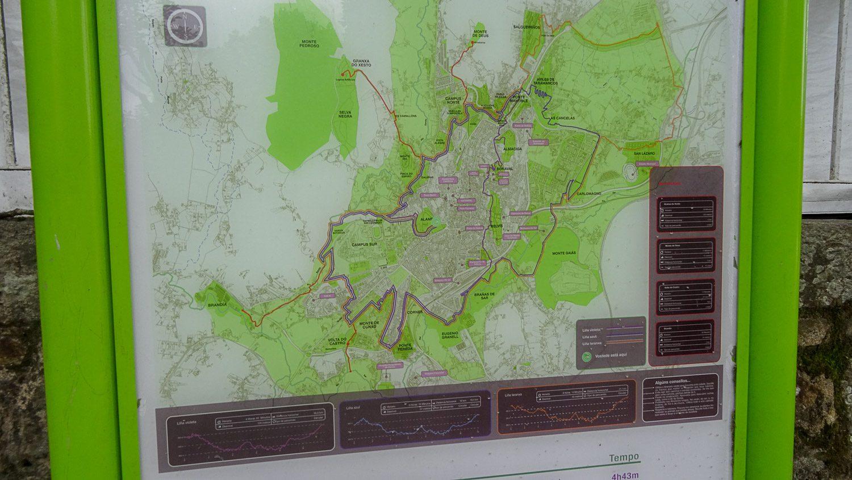 Карта города и зеленых мест