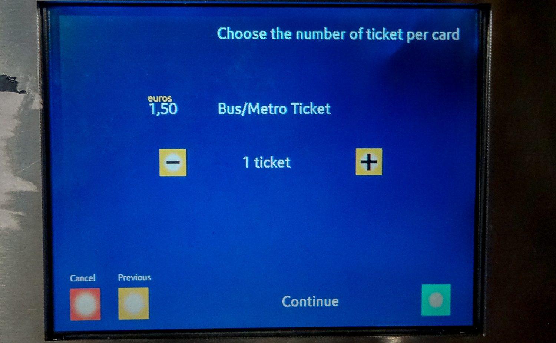 Покупка билета на одну поездку. Действует в автобусе или метро