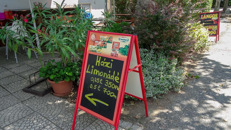 Цены (не так уж дешево по венгерским меркам)