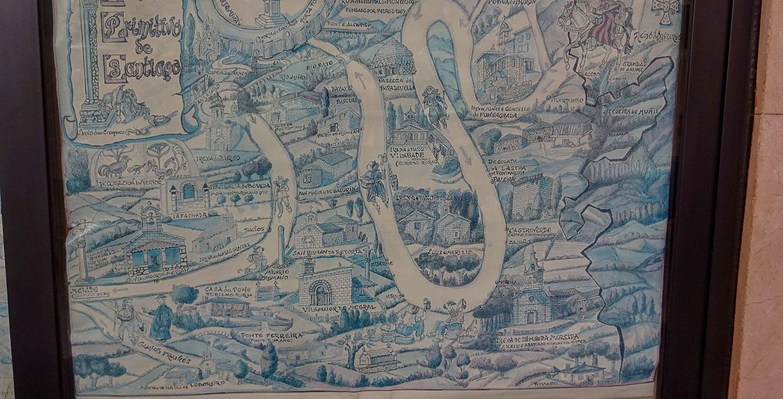 Рисованная карта города