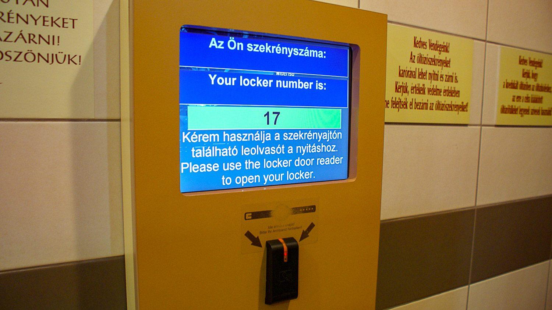 Экран, чтобы узнать номер своего локера