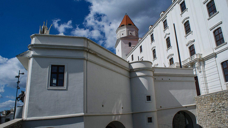 Братиславский град. Вид с территории
