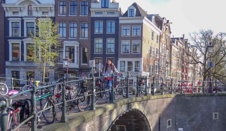 Даже на мосту - велосипеды
