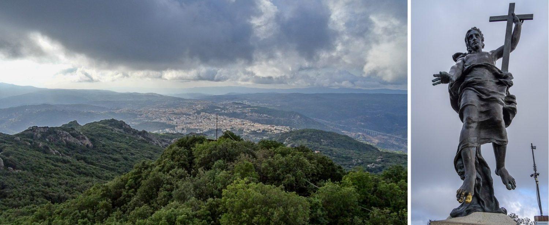 Вид с горы и статуя Иисуса Христа
