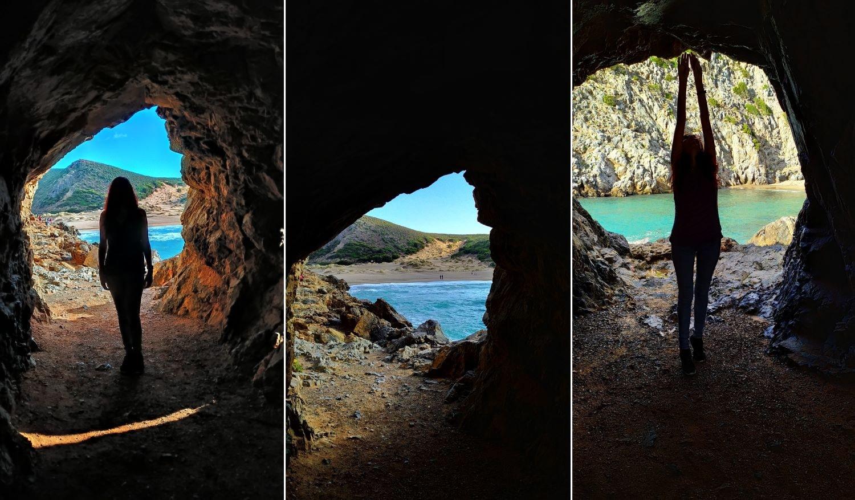 Фото в скалистой арке