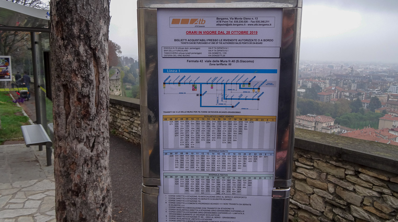 Расписание на остановке