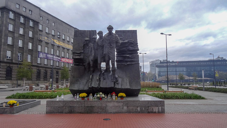 Памятник силезским разведчикам, принявшим мученическую смерть от немецких захватчиков в 1939 г.
