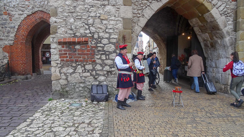 Уличные музыканты у Флорианских ворот