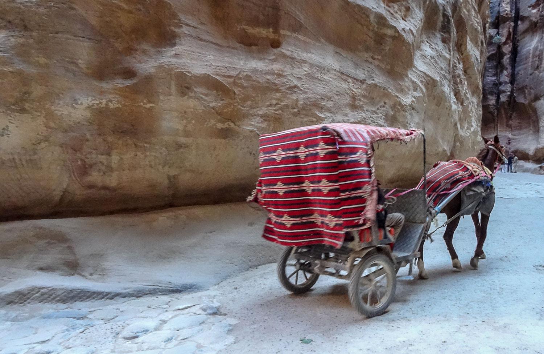Катание в карете-повозке по каньону Сик