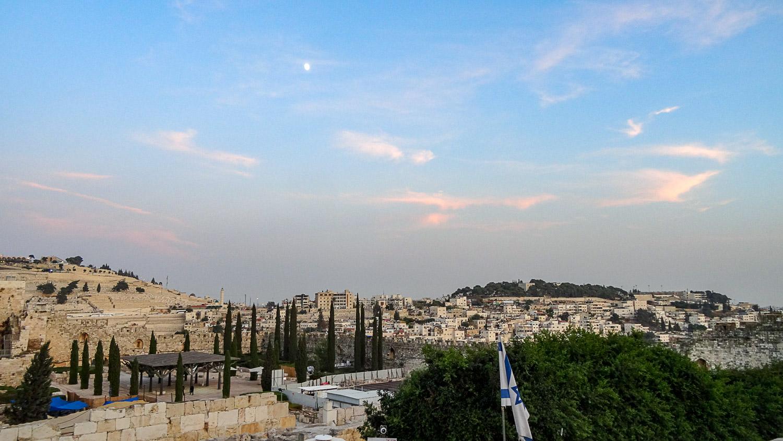 Вид на вечерний Иерусалим