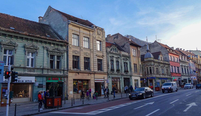 Strada Mureșenilor - одна из главных улиц в центре Брашова
