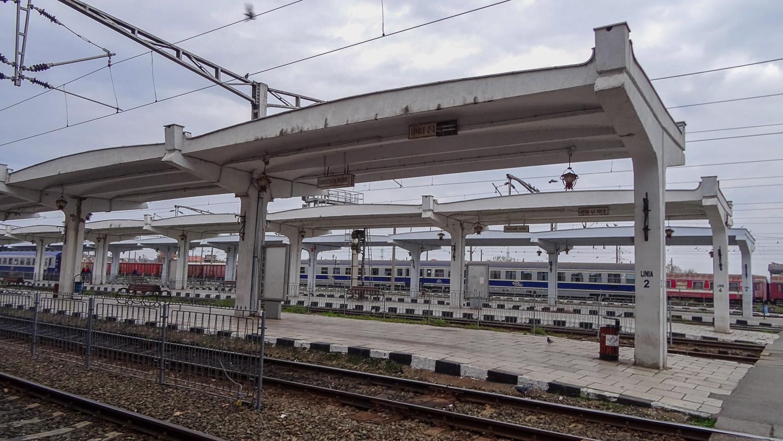 На железнодорожной станции